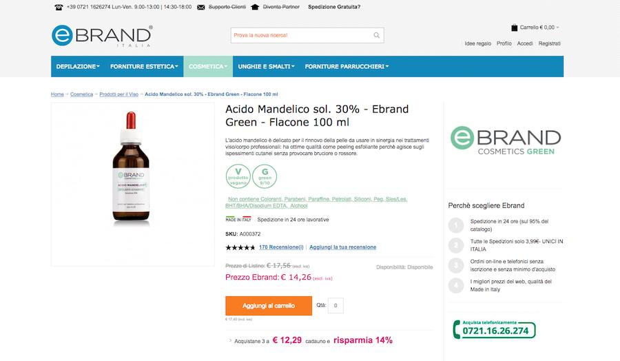 Quanto costa l'acido mandelico, prezzo migliore