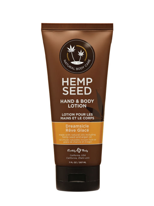 Hemp Seed, Lozione Idratante Corpo e Mani, Fragranza Dreamsicle, 207 ml