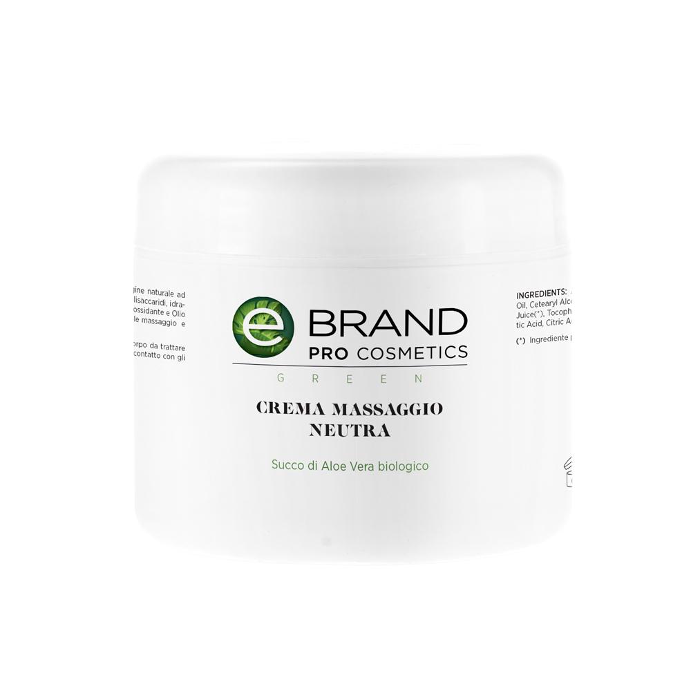 Crema massaggio corpo neutra, vaso da 500 ml
