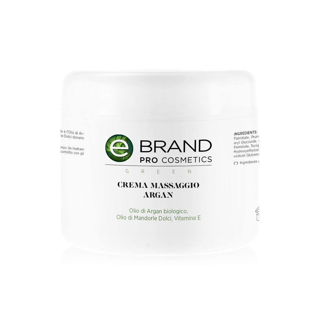 Crema massaggio corpo all'olio d'argan, vaso 500 ml