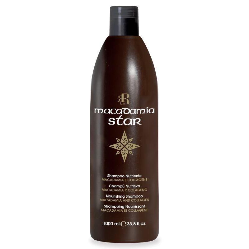 Shampoo Nutriente Macadamia Star, 1000 ml, RR Real Star