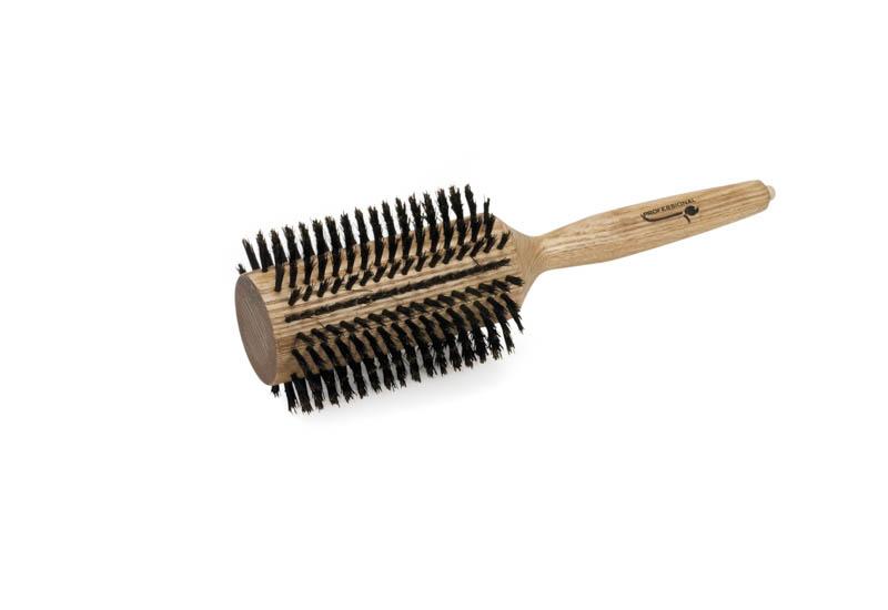 Spazzola per capelli in legno diametro 75 mm setola cinghiale