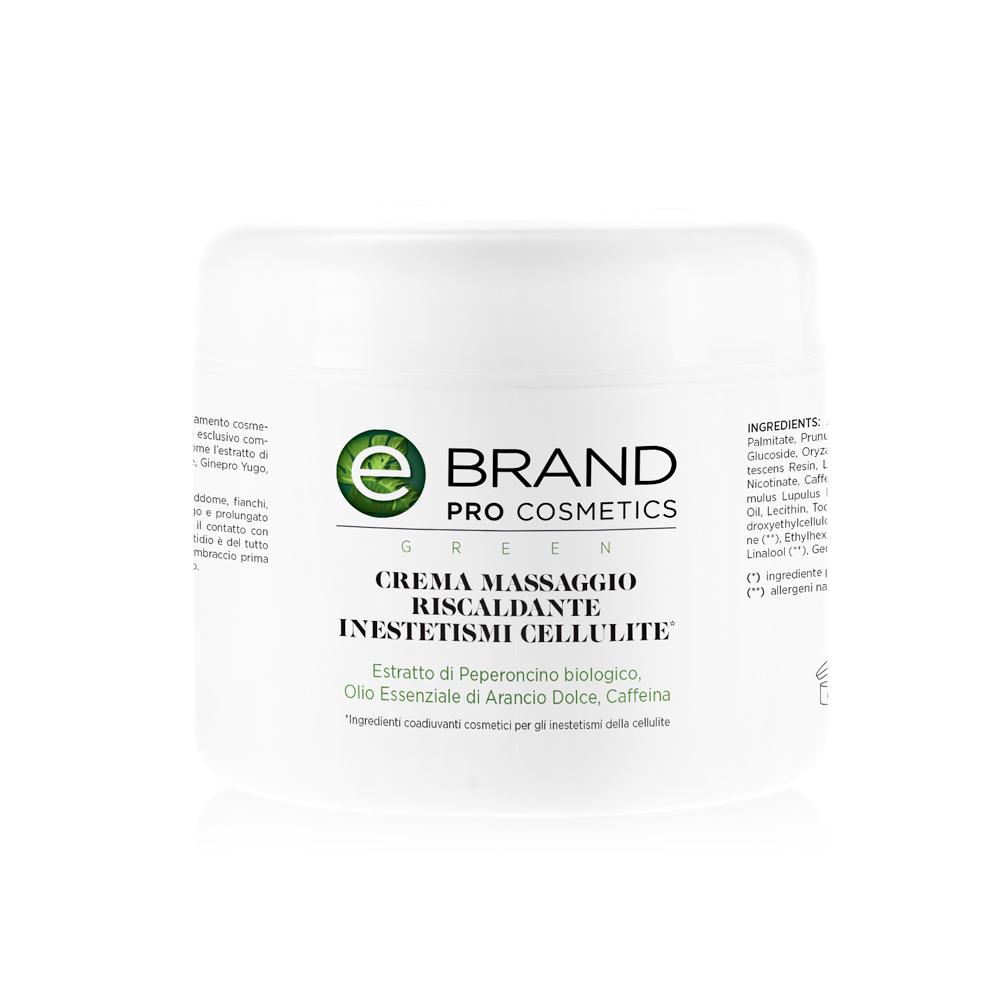 Crema massaggio riscaldante cellulite, vaso 500 ml