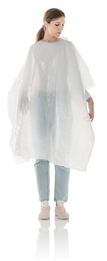 Mantellina Monouso Parrucchiere in Polietilene Extra Large 110x130, Cf. 20 pz
