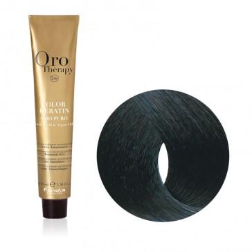 Tinta Capelli Nero Blu 1.10 Professionale - Color Keratin - Oro Therapy