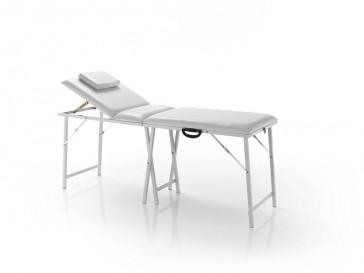 Lettino estetica bianco pieghevole a valigia handy white