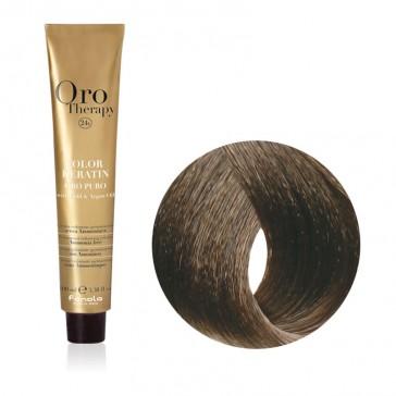 Tinta Capelli Castano Chiaro Cenere 5.1 Professionale - Color Keratin - Oro Therapy