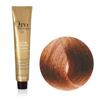 Tinta Capelli Biondo Chiaro Rame 8.4 Professionale - Color Keratin - Oro Therapy