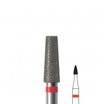 Fresa manicure a fiamma corta diamantata Edenta, diametro 1,6 mm, 3 pezzi