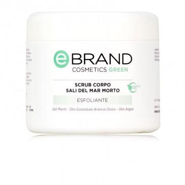 Scrub Corpo Gel ai Sali del Mar Morto e Arancio Dolce - Ebrand Green - Vaso 500 ml