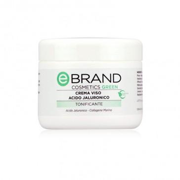 Crema Viso Idratante Anti Age Acido Ialuronico - Ebrand Green - Vaso 250 ml.