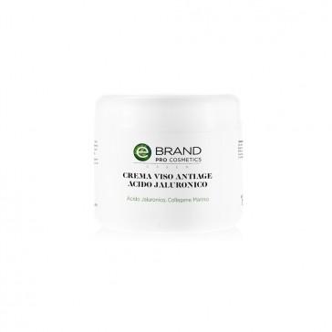 Crema viso acido ialuronico, idratante anti age, vaso 250 ml
