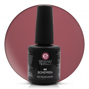Smalto Semipermanente Rosso Borgogna, Bohemien, Nr. 44, 15 ml, Evo Nails