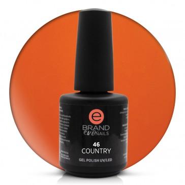 Smalto Semipermanente Arancio kaki, Country, Nr. 46, 15 ml, Evo Nails