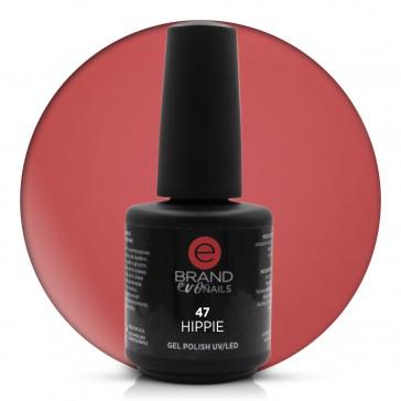 Smalto Semipermanente Rosso Terracotta, Hippie, Nr. 47, 15 ml, Evo Nails