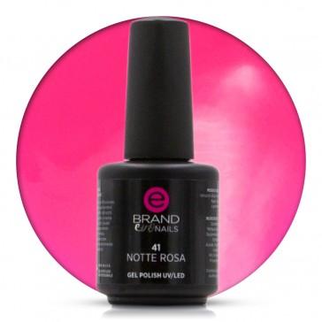 Smalto Semipermanente Rosa Fluo, Notte Rosa, Nr. 41, 15 ml, Evo Nails