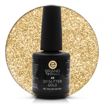 Smalto Semipermanente Oro, So Glitter Gold, nr. 49, 15 ml, Evo Nails