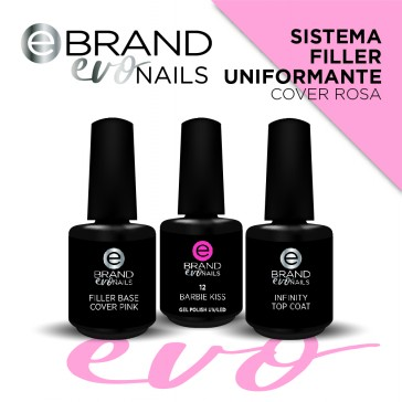 Kit Sistema Filler Uniformante Rosa, Evo Nails