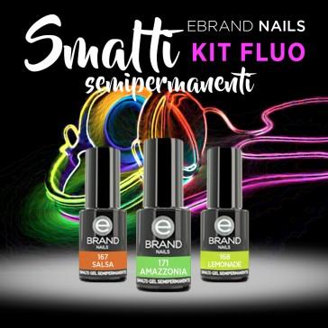 Kit Smalti Semipermaneti Fluo Ebrand Nails