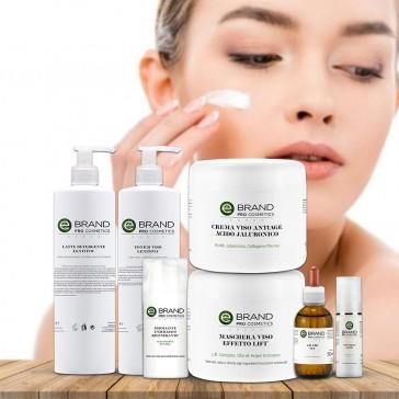 Protocollo trattamento viso anti age acido ialuronico, azione volumizzante idratante