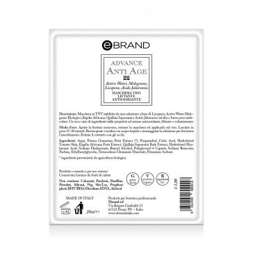 Maschera Monouso Imbibita Liftante Antiossidante - Ebrand Advance Anti age