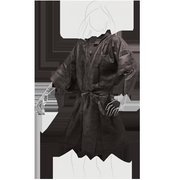 Kimono in Tnt Con Taschino E Cintura