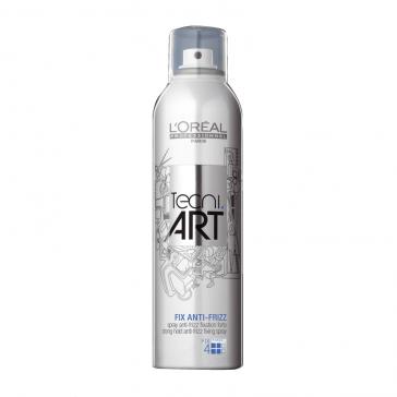 Spray Anti Crespo E Anti Umidità, Tecni Art L'Oreal Fix Anti,Frizz Spray Fix4 250 ml
