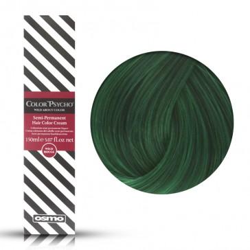 Osmo Color Psycho Wild Green, Colorazione Semi Permanente In Crema Verde, 150 ml