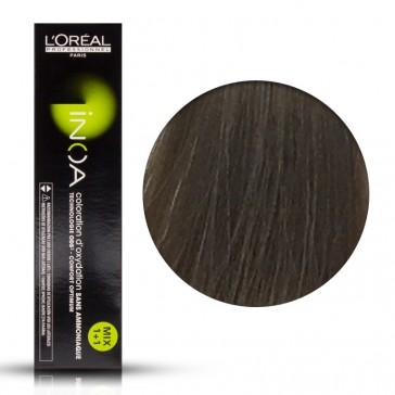 Tinta Capelli Inoa 8.1 Colore Professionale Biondo Chiaro Cenere, L'Oreal, 60 gr