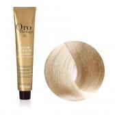 Tinta Capelli Super Biondo Platino Cenere 11.1 Professionale, Color Keratin, Oro Therapy