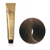 Tinta Capelli Castano Chiaro Dorato 5.3 Professionale, Color Keratin, Oro Therapy