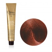 Tinta Capelli Biondo Scuro Rame Rosso 6.46 Professionale, Color Keratin, Oro Therapy
