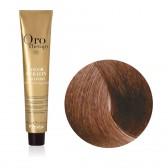 Tinta Capelli Nocciola 7.14 Professionale, Color Keratin, Oro Therapy