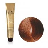 Tinta Capelli Biondo Rame 7.4 Professionale, Color Keratin, Oro Therapy