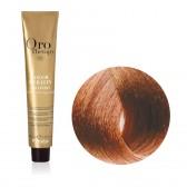 Tinta Capelli Biondo Chiaro Rame 8.4 Professionale, Color Keratin, Oro Therapy