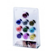 Set Glitter Unghie 10 Colori, Decorazione Nail Art