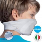 Mascherina Filtrante Lavabile per Bambino - Colore Azzurro