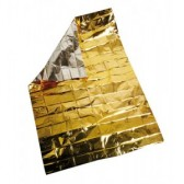 Coperta Isotermica Monouso, Alluminio/alluminio dorato