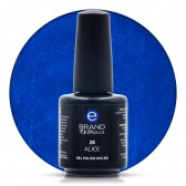 Smalto Semipermanente Blu Elettrico, Alice, Nr. 28, 15 ml, Evo Nails