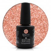 Smalto Semipermanente Oro Rosa Glitterato Rose Gold nr. 52, 15 ml, Evo Nails