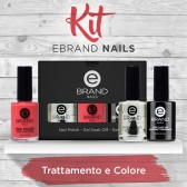 Kit Smalti Professionali, Trattamento + Colore, Ebrand Nails