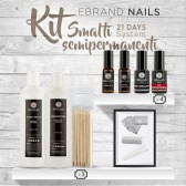 "Kit Smalti Semipermanenti Ebrand Nails ""21 Days - 4 Colori + Basi in Omaggio"