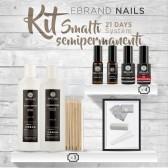 """Kit Smalti Semipermanenti Ebrand Nails """"21 Days - 4 Colori + Basi in Omaggio"""