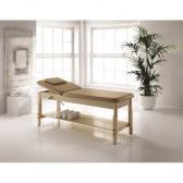 Lettino massaggio in legno con schienale regolabile, Feng Shui