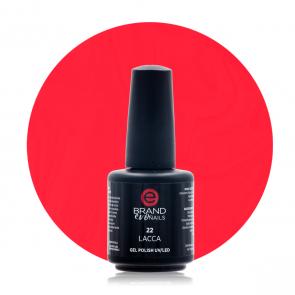 Smalto Semipermanente Rosso Lacca, Nr. 22, 15 ml, Evo Nails