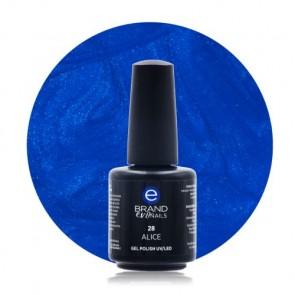 Smalto Semipermanente Blu Elettrico, Alice, Nr. 28, 15 ml, Evo Nails
