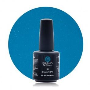 Smalto Semipermanente Blu Ceruleo Brillante, Biscay Bay, Nr. 32, 15 ml, Evo Nails