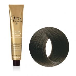 Tinta Capelli Castano Scuro 3.0 Professionale - Color Keratin - Oro Therapy