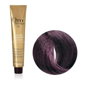Tinta Capelli Castano Viola 4.2 Professionale - Color Keratin - Oro Therapy