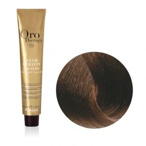Tinta Capelli Castano Chiaro 5.0 Professionale - Color Keratin - Oro Therapy